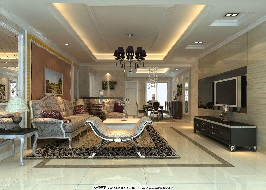 现代 简欧 欧式线条      电视墙 沙发背景墙        设计 环境设计图片
