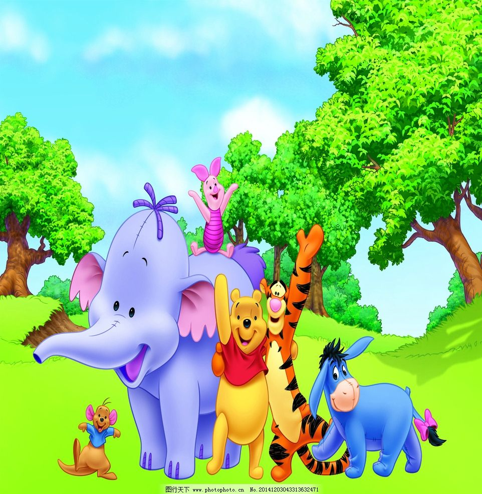 卡通小象 跳跳虎图片,维尼熊 小熊维尼 维尼小熊 猪