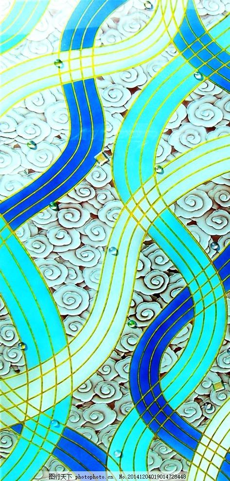 艺术玻璃 行云流水 艺术玻璃 工艺玻璃 彩绘雕刻玻璃 现代装饰 南宁市