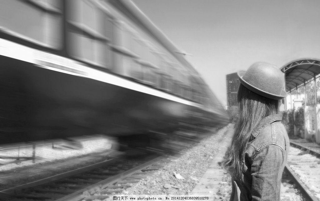 风景图片 列车/少女 火车图片