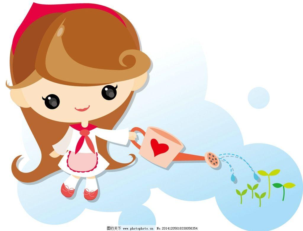 可爱兔子 卡通女孩 可爱卡通 q版兔子 q版女孩 设计 动漫动画 动漫