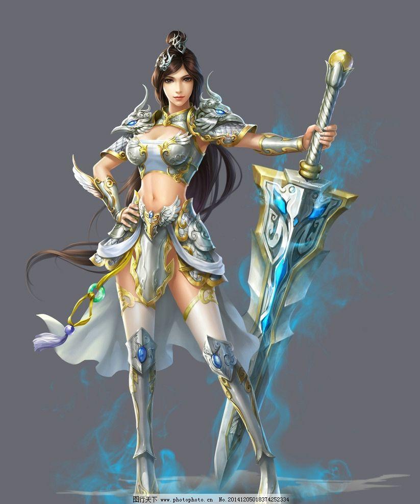 美女战士 古装美女 唯美 女神 手绘美女 游戏美女 板绘 艺术