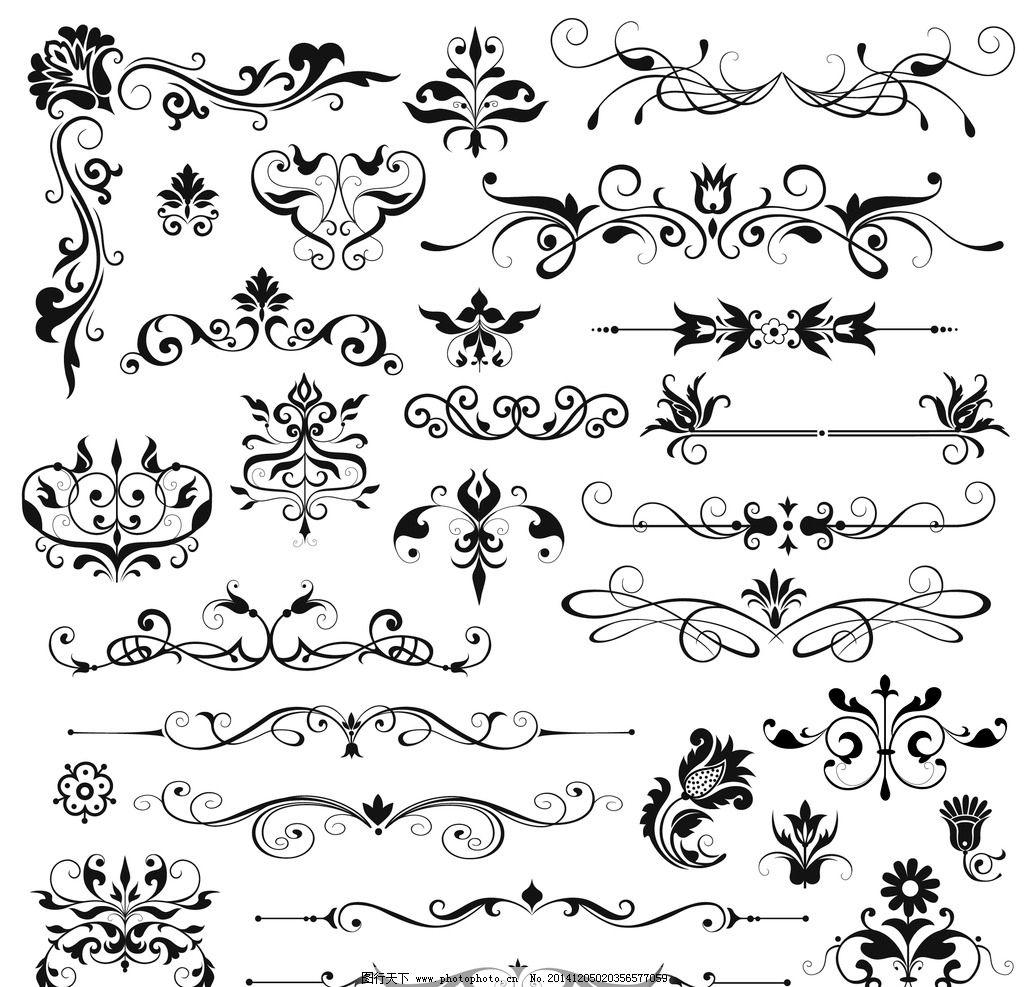 古典花边 古典底纹 欧式底纹