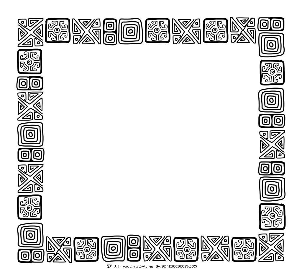花纹边框 花边 边角 简约 花环 相框 欧式花纹 花卉 植物 古典