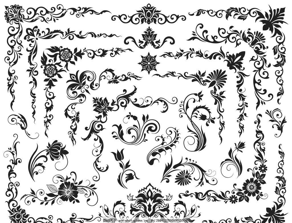 豪华 华丽 纹样 纹理 古典花纹 古典花边 古典底纹 欧式底纹 藤蔓