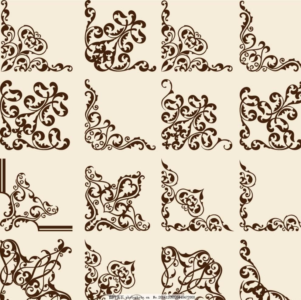 花环 边框 相框 欧式 花卉 植物 古典 彩色 时尚 潮流 梦幻 标签 贴纸