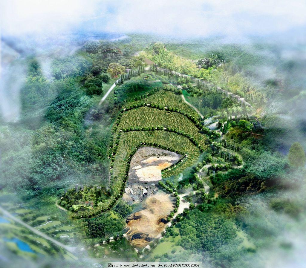 山坡鸟瞰图图片