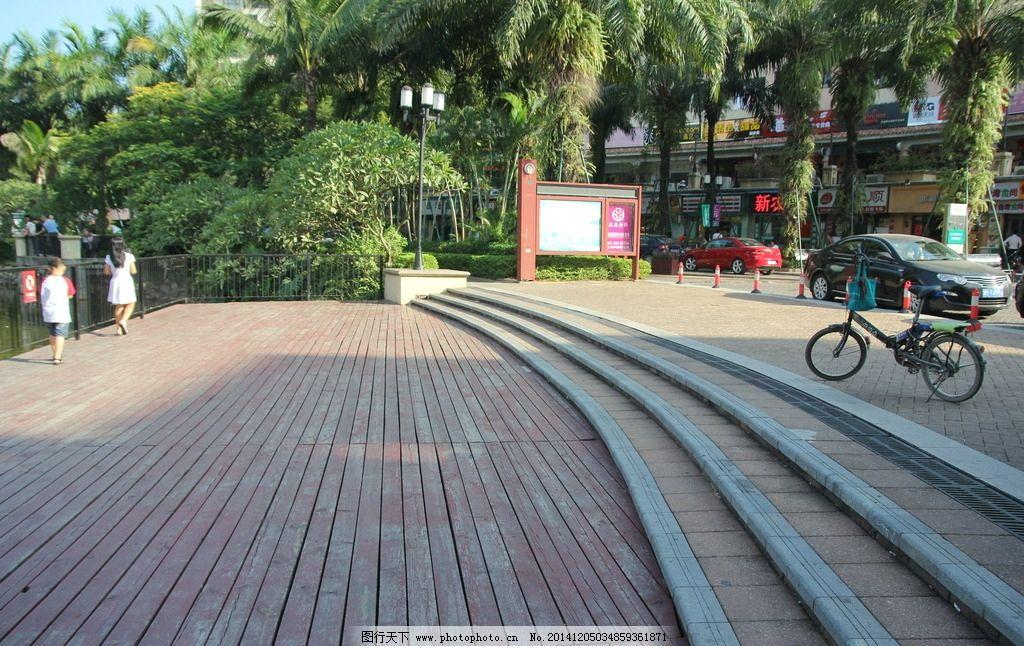 木板路 休闲 散步 公园 便道 实木 木质路面 户外木地板 木材