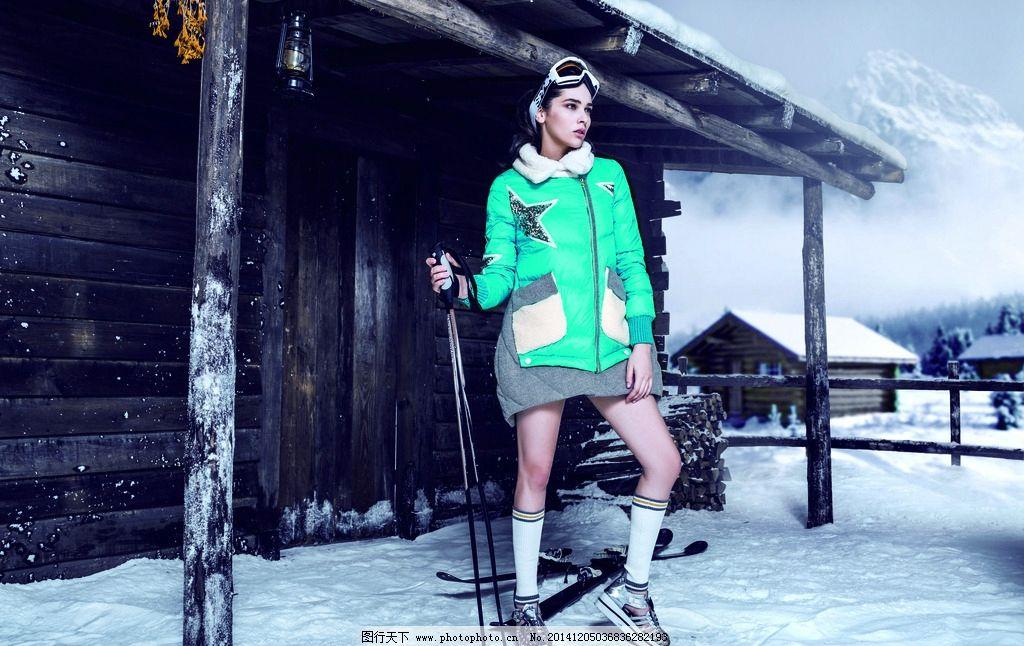 俄罗斯妇女冬天图片