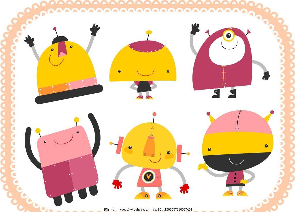 卡通 机器人 玩具 图标 机械 图案 可爱 卡通设计 儿童插画 广告设计