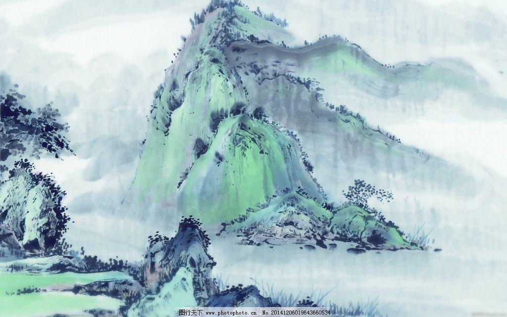 水墨画免费下载 国画 山 树 水墨 山 国画 水墨 树 图片素材 文化艺术