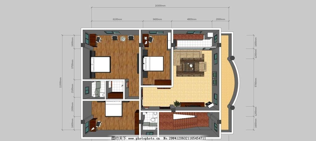 平面 平面图 室内 室内平面图 平面布置图 设计 3d设计 室内模型 300