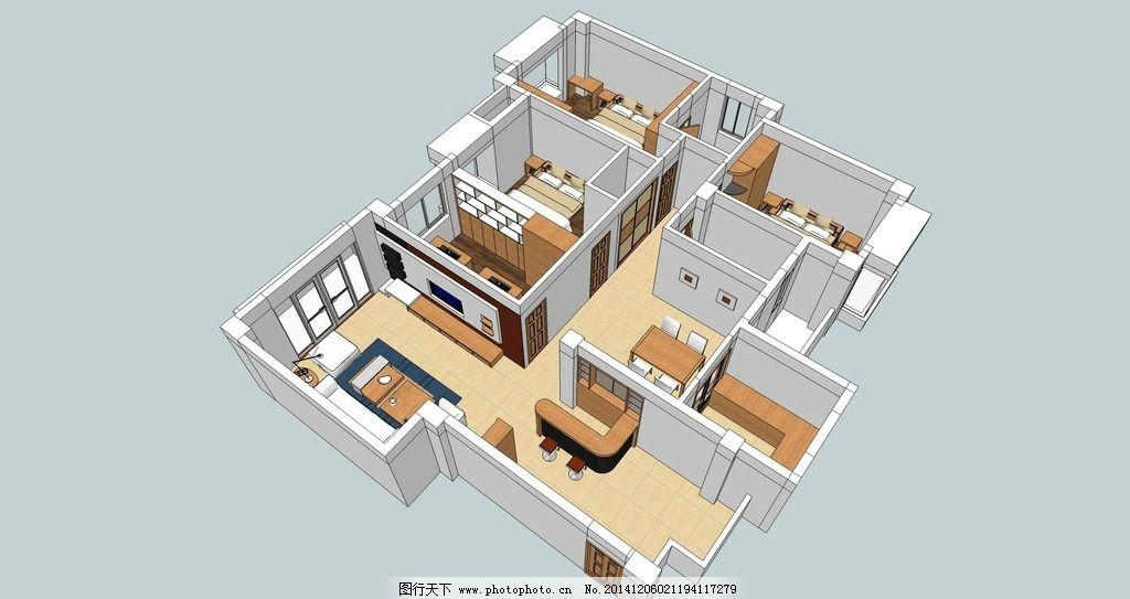平面 平面布局 室内 室内平面图 室内模型 设计 3d设计 室内模型 300