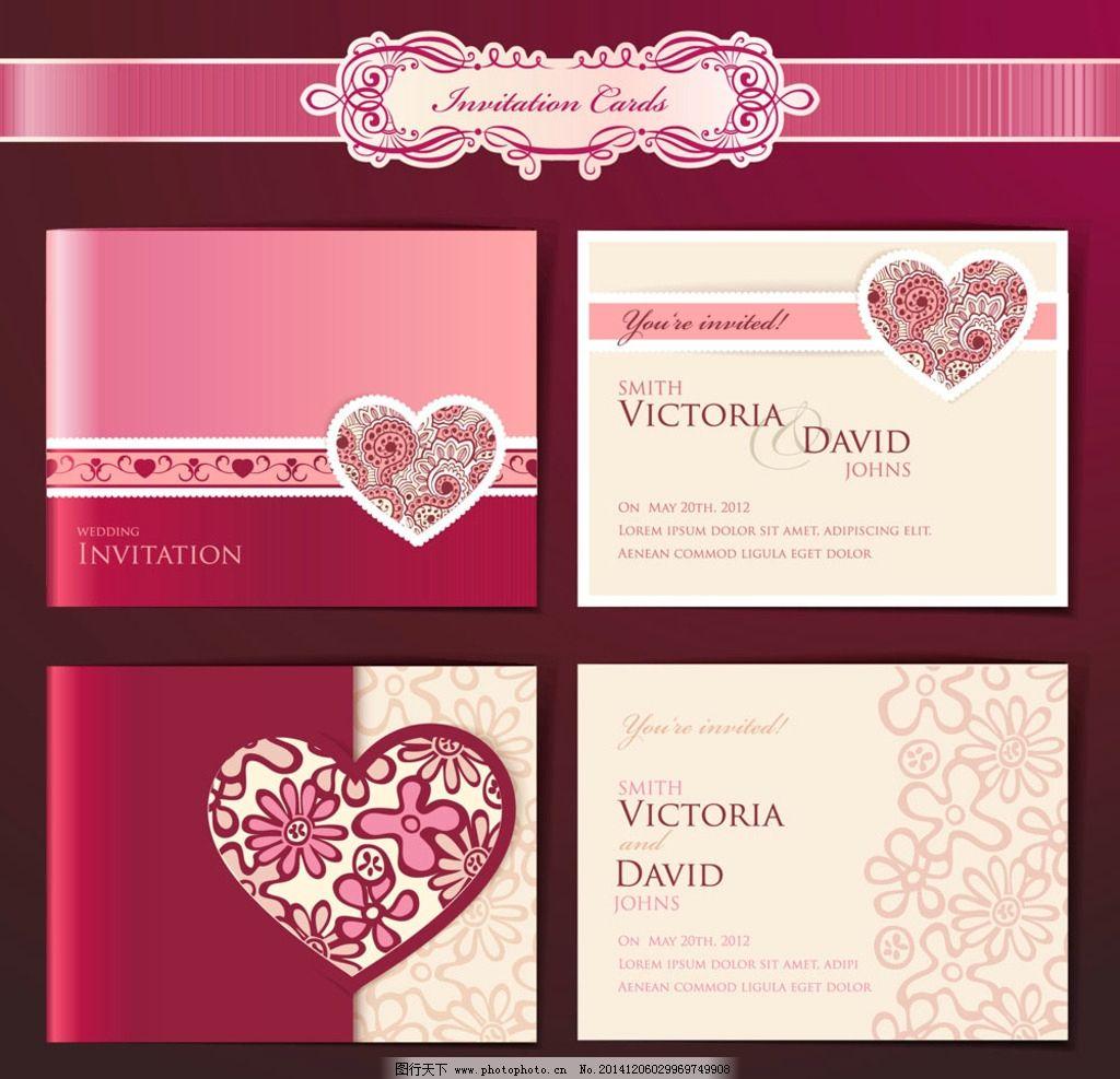 梦幻 浪漫花纹 欧式花纹 红色背景 边框 植物花纹 设计 广告设计 名片