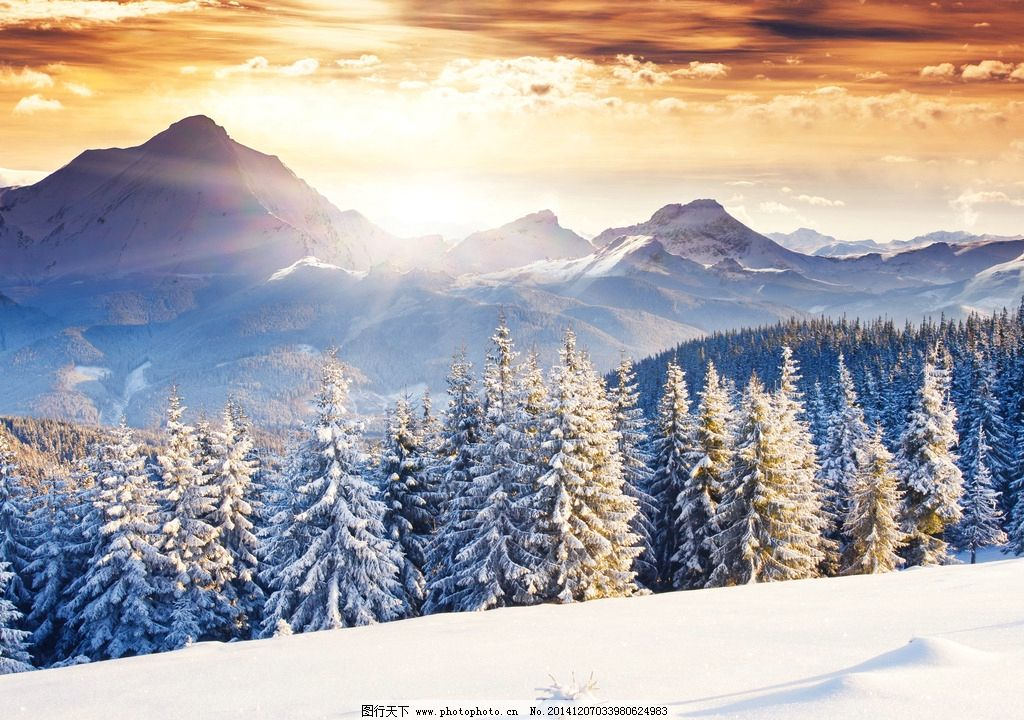 唯美 清新 风景 风光 雪 雪景 冬天 冬季 冬日 秦皇岛 祖山 山 夕阳