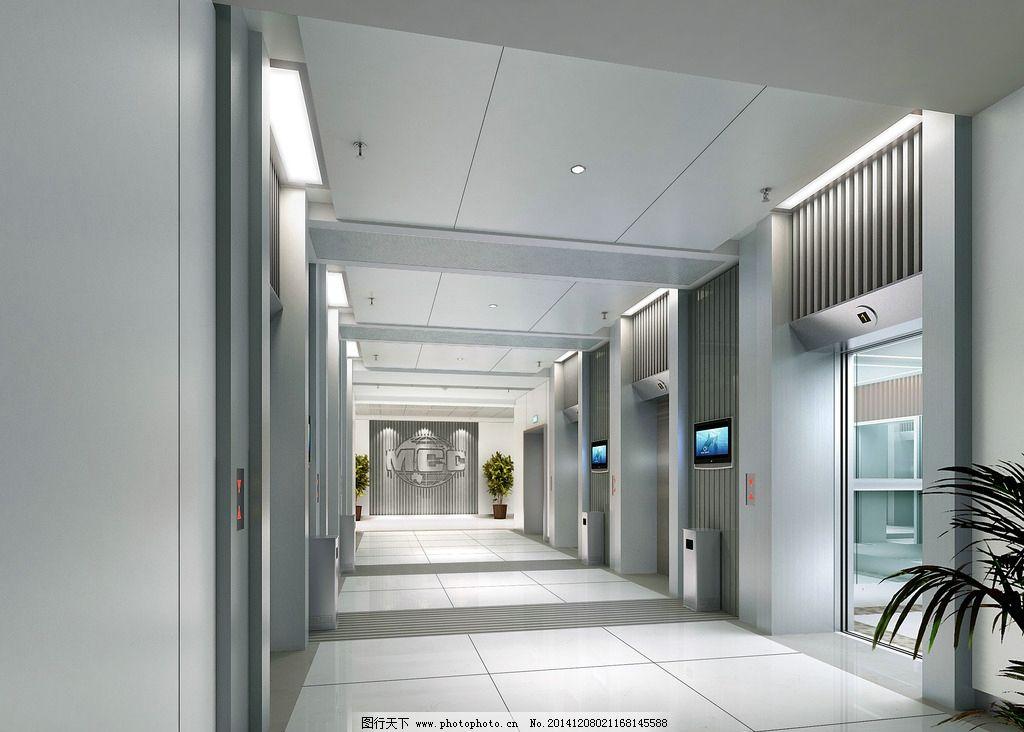 工装设计电梯间效果图实例图片图片