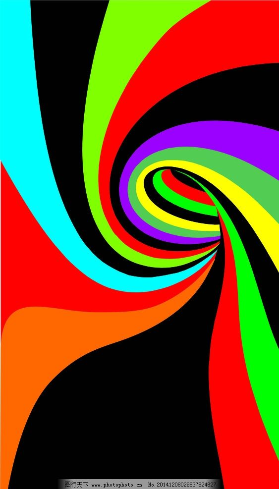 彩绘图片,漩涡 无限创意 彩虹 旋转 水墨画 彩绘素材