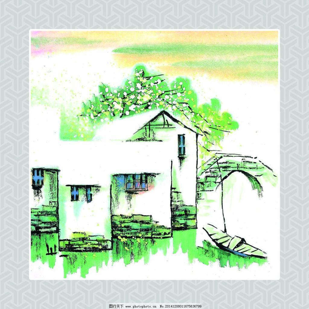 风景图免费下载 房子 风景图画 风景图画 裱画图 房子 装饰素材 室内