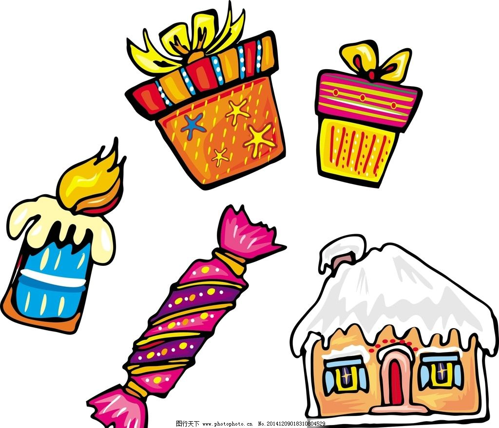 卡通 蜡烛 房子图片_动漫人物_动漫卡通_图行天下图库