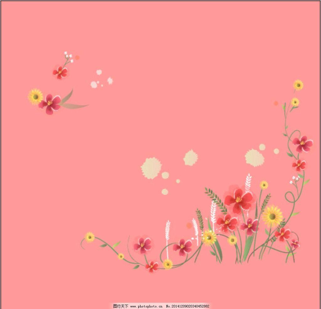 设计图库 广告设计 dm宣传单  花边 花纹 花朵 花边背景 花朵背景