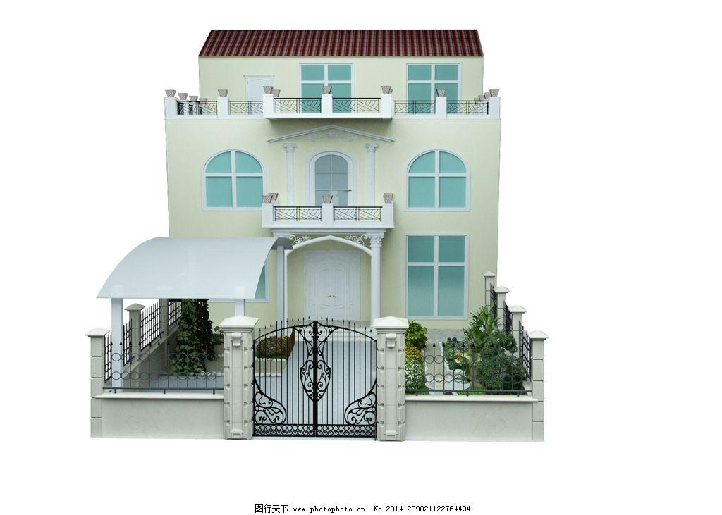 别墅效果图院子图片
