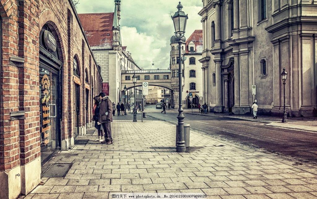 西式街道背景素材圖片