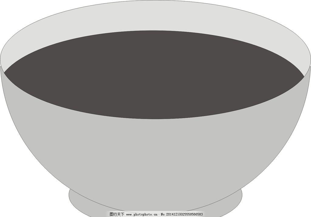碗 青瓷碗 黑白图片 素描图片 汤碗 设计 生活百科 生活用品 cdr