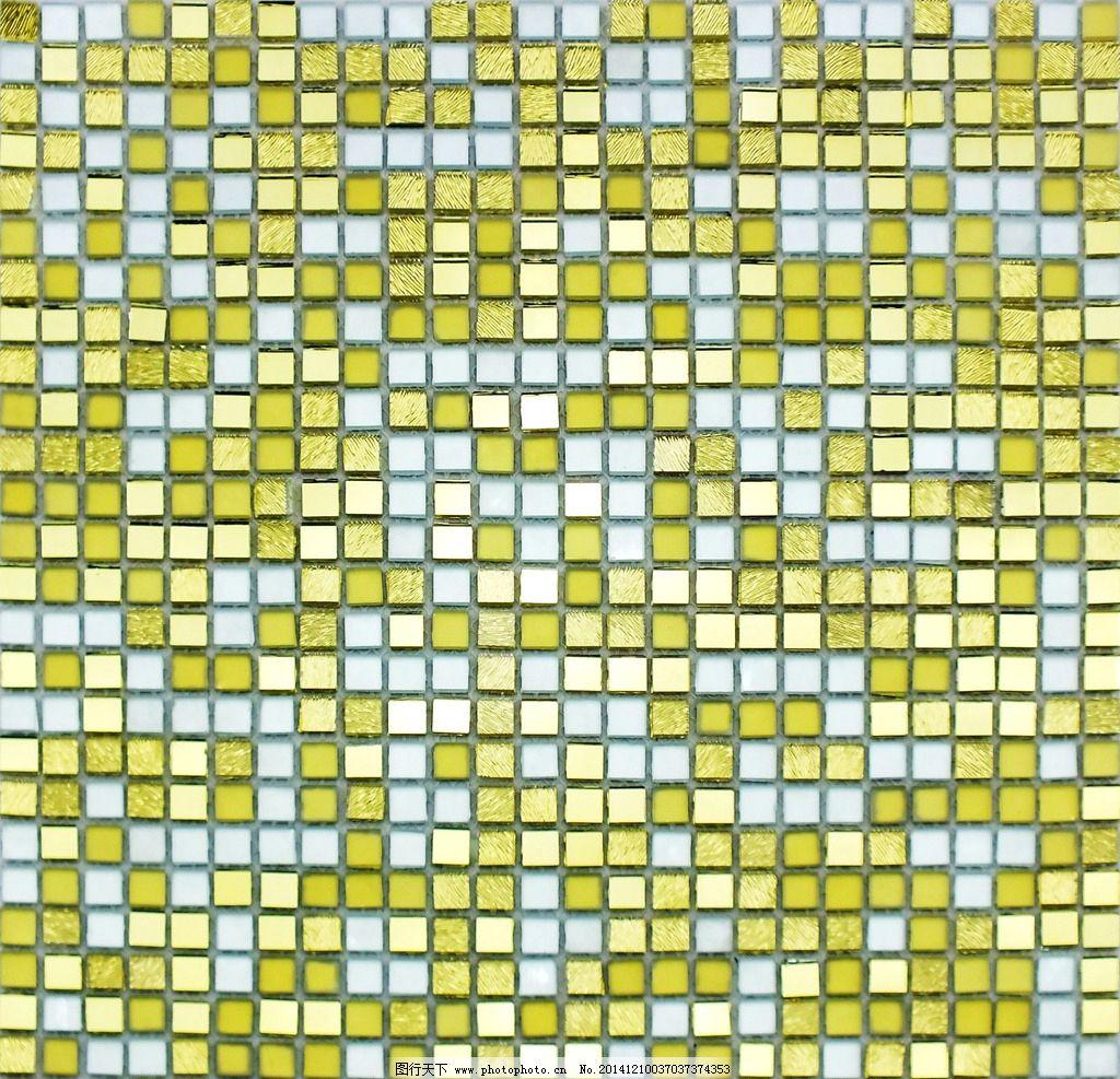 金色艺术玻璃马赛克贴图图片