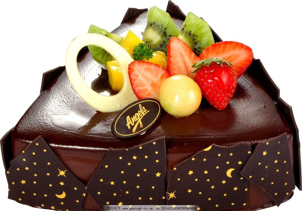 巧克力星辰 安琪蛋糕图片