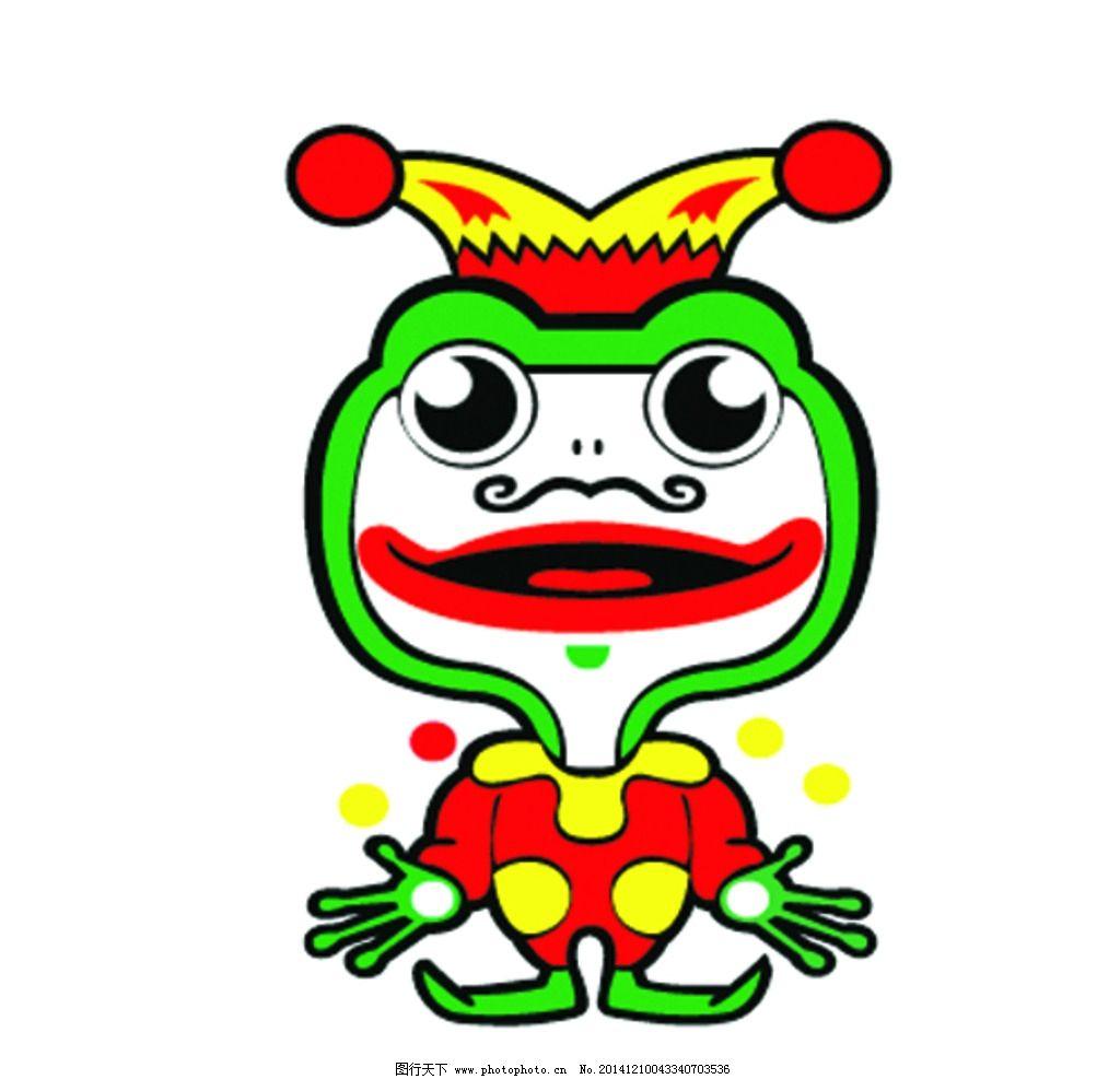 小丑 彩色 可爱 鲜艳 大嘴 设计 动漫动画 其他 eps