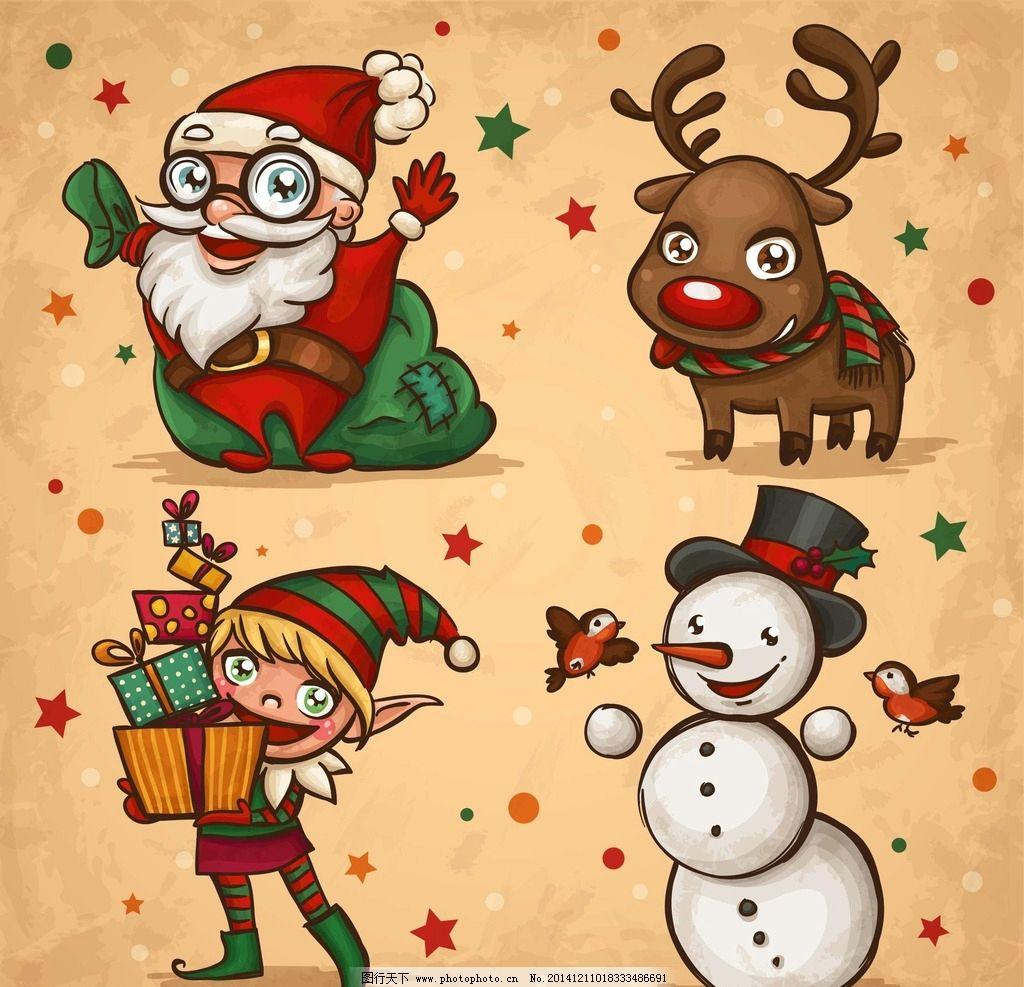 圣诞老人手绘图片_动漫人物