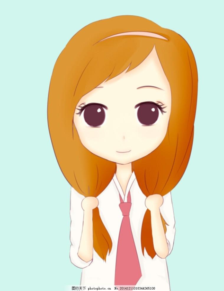 卡通 漫画 q版头像 女孩 可爱卡通 设计 动漫动画 动漫人物 256dpi