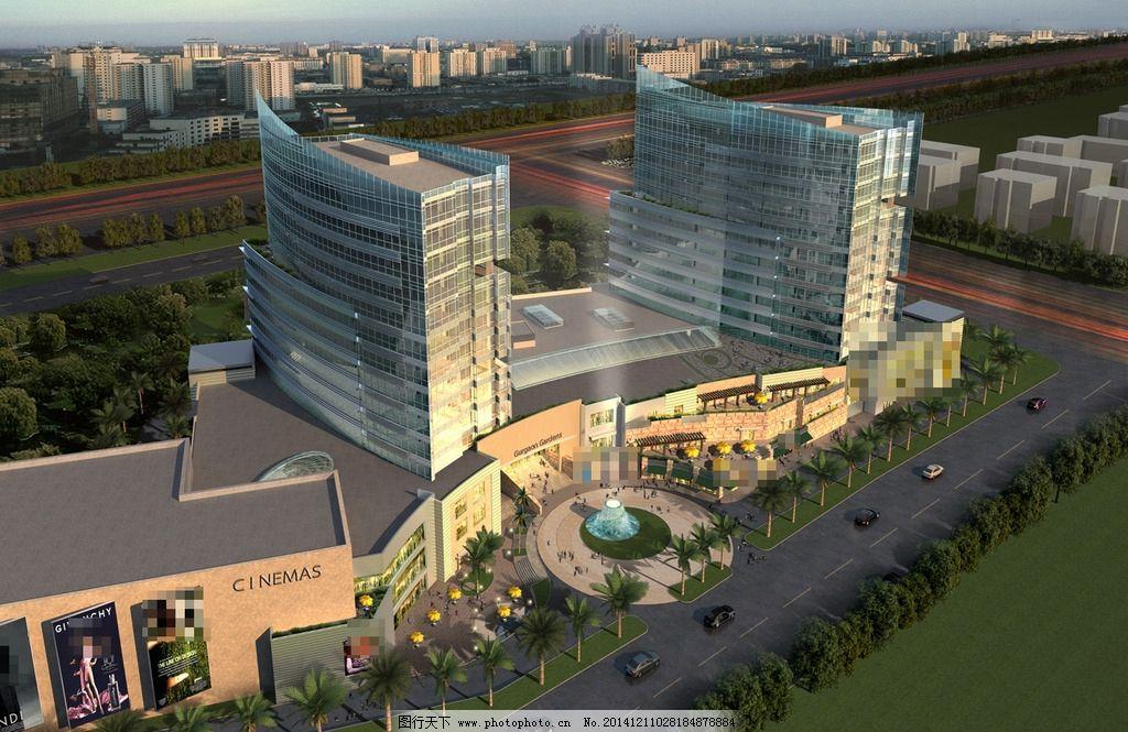商业广场鸟瞰图图片