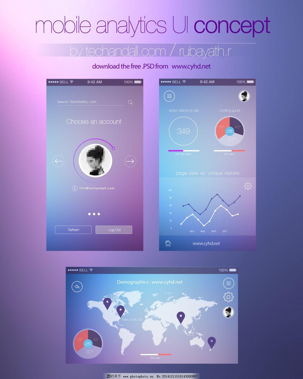 手机梦幻界面_app界面_ui界面设计_图行天下图库