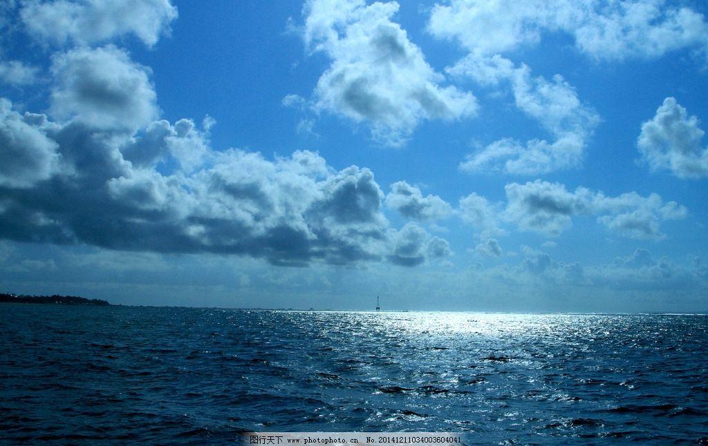 波光粼粼 印尼 巴厘岛 旅游 海水 水纹 波纹 蓝天 白云 摄影