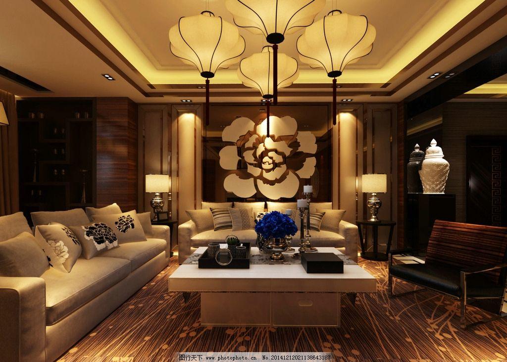 新中式 办公室 高端 接待区        设计 3d设计 3d作品 72dpi jpg