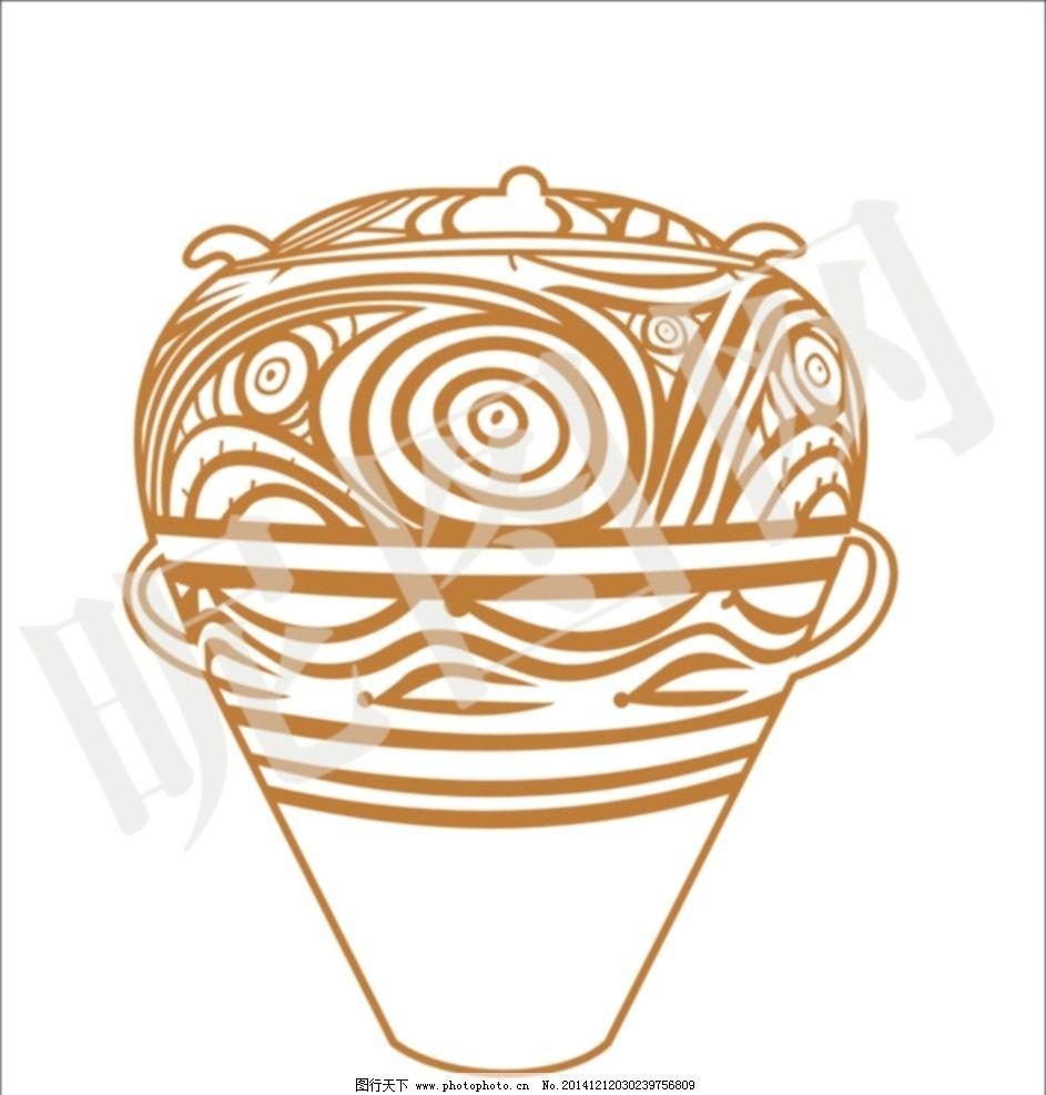 矢量线描 马家窑线描 陶瓷 甘肃 陶瓷纹样 学校展板 设计 广告设计