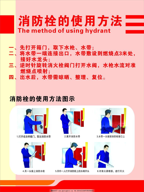 消防栓免费下载 安全 使用方法 消防栓 消防栓 安全 使用方法 海报
