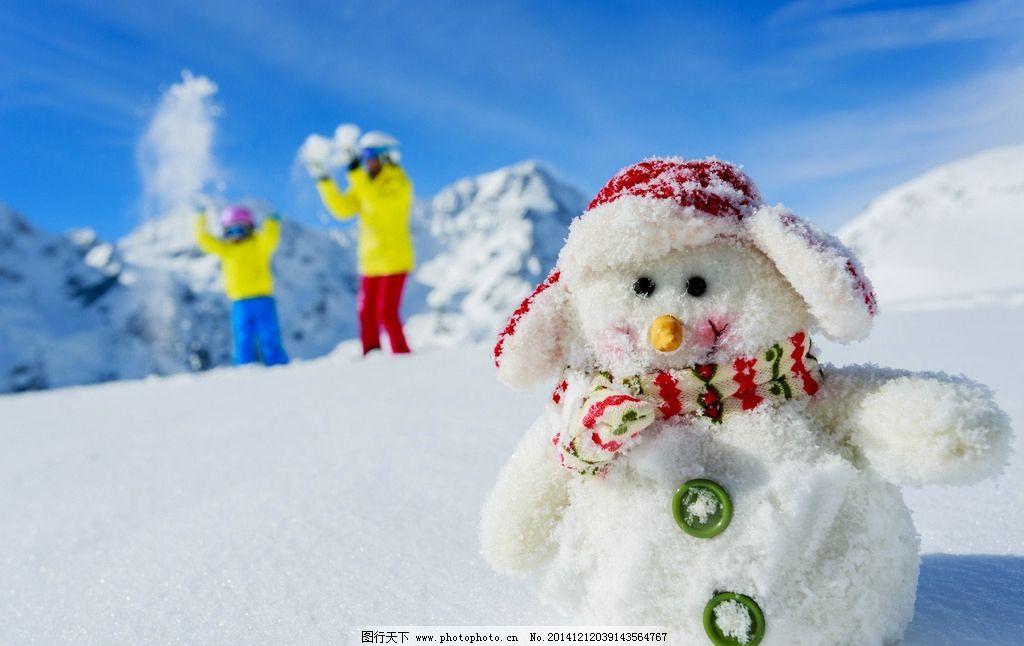 雪人 堆雪人 雪娃娃 卡通雪人 圣诞节 雪花 冬天 冬季 雪景 摄影 文化