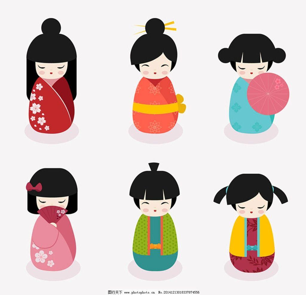 和服 娃娃 日本 日本卡通