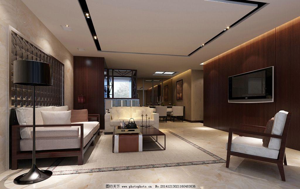 简约客厅 室内效果图 简约风格 中式客厅 休闲客厅