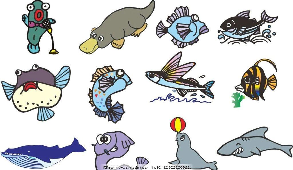 卡通 图画素材 童话世界 背景素材 动物世界 简笔画 卡通动物 cdr