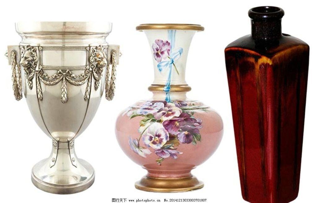 花瓶造型 花卉图案 立体花纹