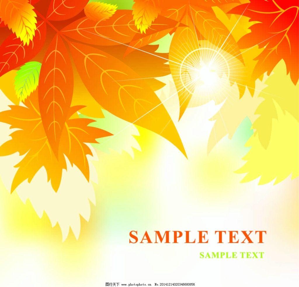 花纹样式 秋天 叶子 阳光 枫叶 树叶 矢量花纹 设计 底纹边框 花边