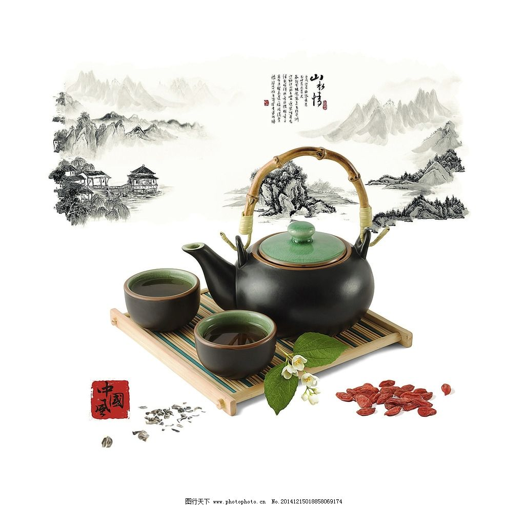 茶文化 茶道 中国风 装饰画 餐厅画
