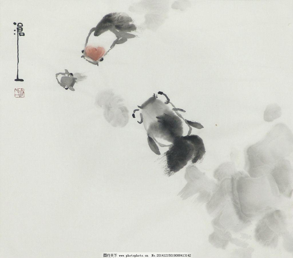 国画 水墨画 装饰画 国画花鸟 国画莲 写意国画 水墨鱼 鱼 国画 设计