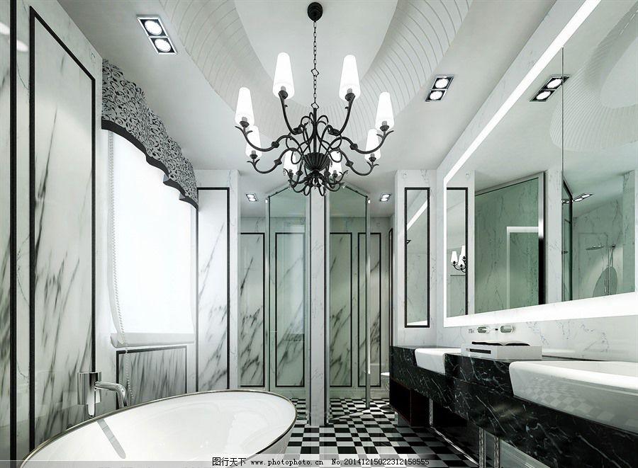 简欧卫生间免费下载 模型 欧式        浴缸 模型        欧式 浴缸