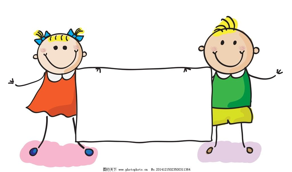 手绘儿童 卡通儿童 女孩 男孩 儿童 学生 手绘 小孩 人物 卡通背景