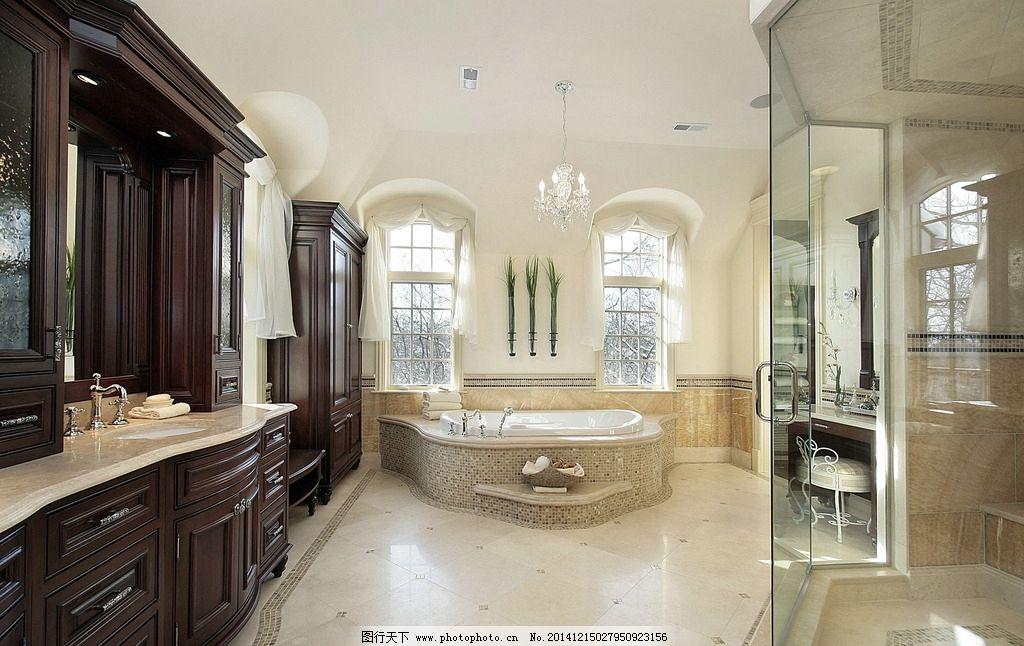 欧式浴室装修效果图图片_室内设计_环境设计_图行天下