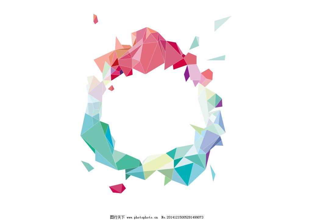 创意色块设计免费下载 三角 色块 装饰 色块 装饰 溅射 三角 矢量图